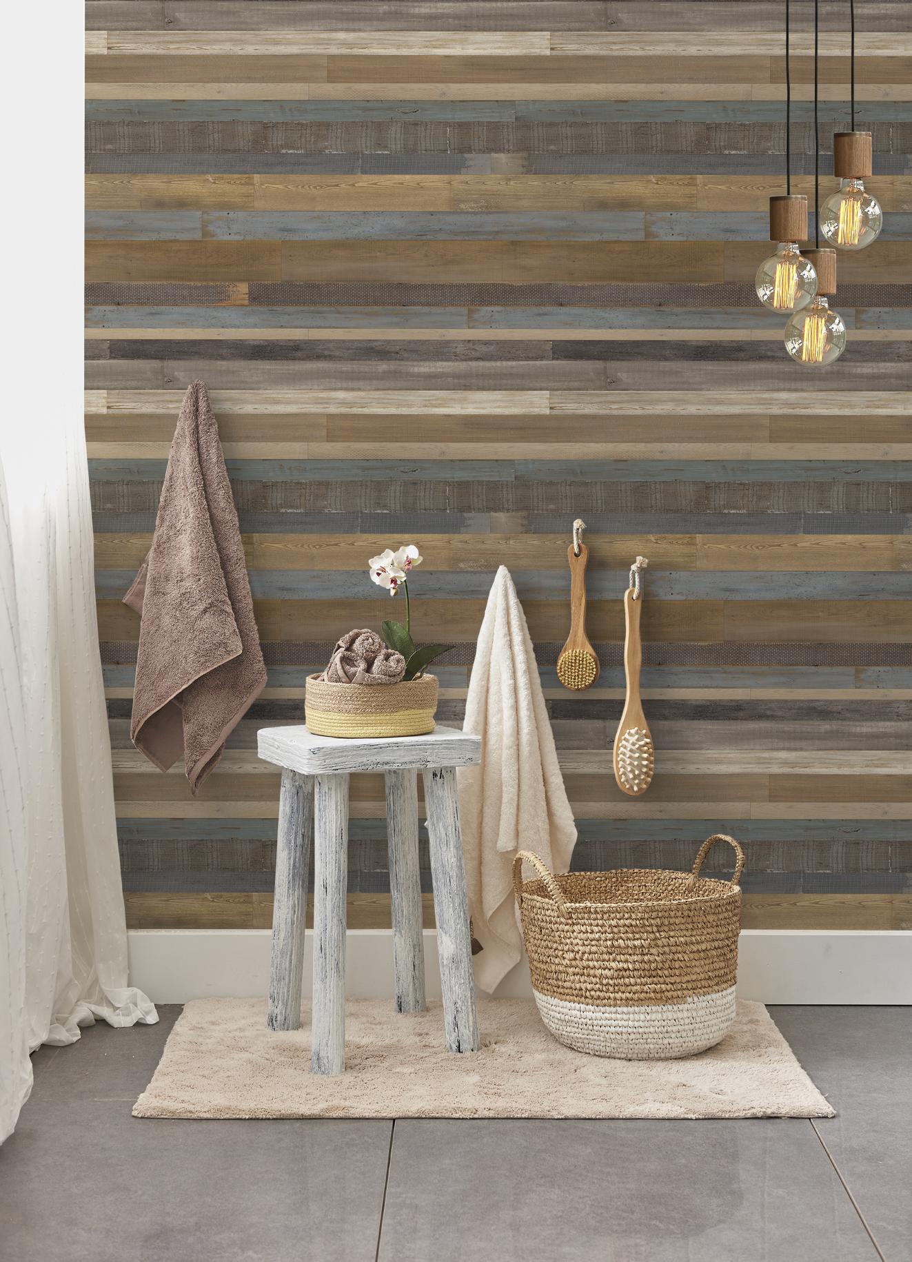 Revestimiento de paredes ambiente madera grosfillex - Lambris pvc salle de bain avis ...