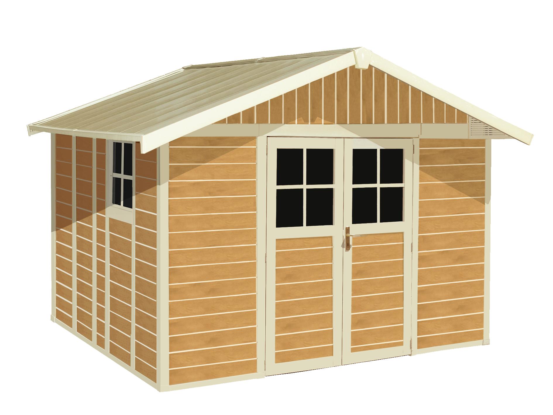gartenhaus deco sherwood 11 m grosfillex. Black Bedroom Furniture Sets. Home Design Ideas