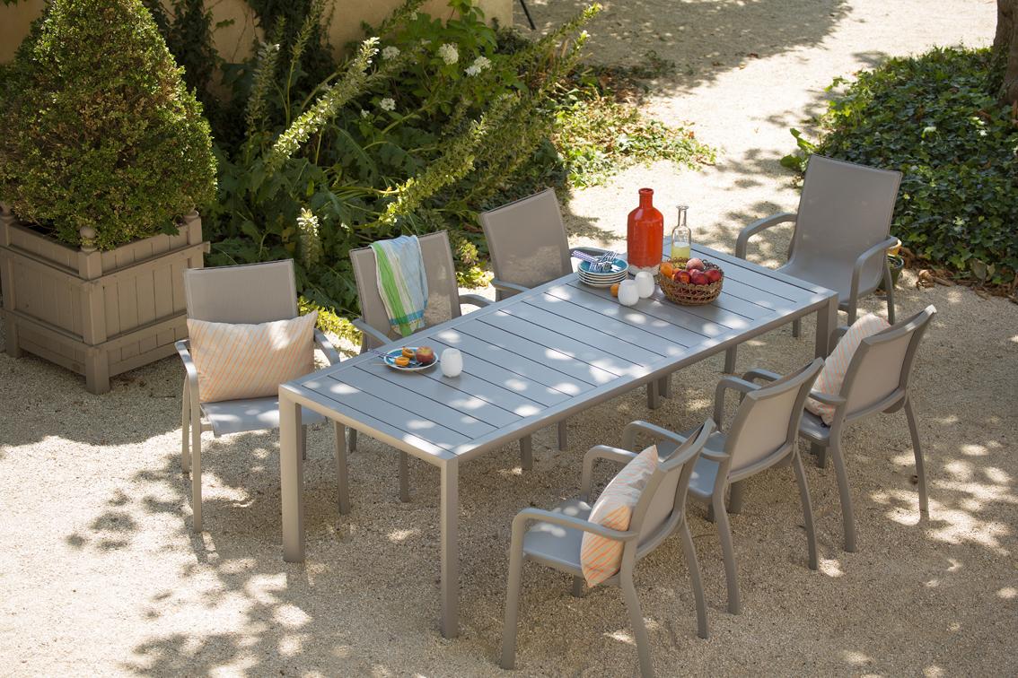 Salon de jardin dînatoire Sunset aluminium | Grosfillex