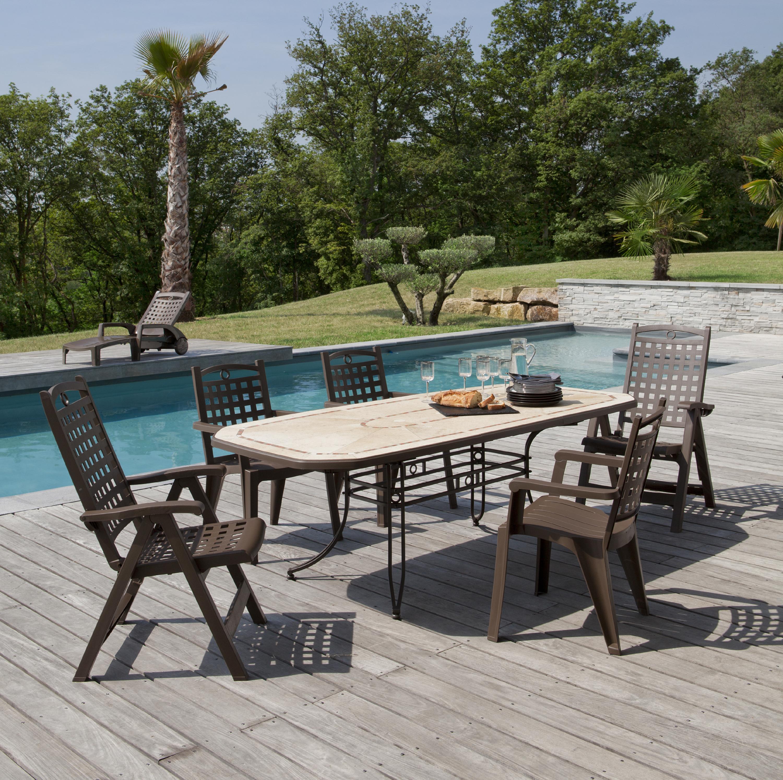 Tables de jardin Amalfi 220 cm | Grosfillex