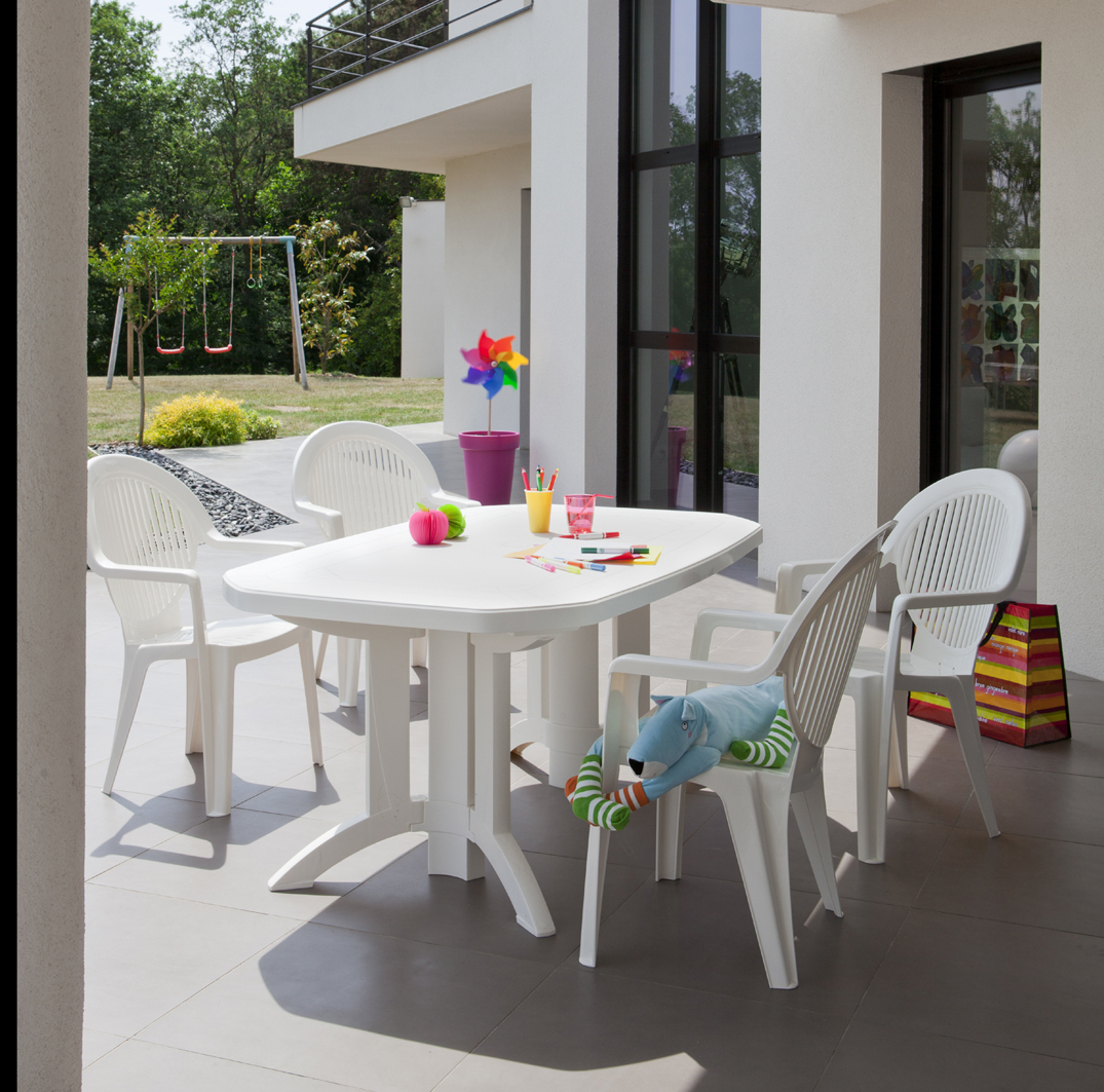 Vega 220 & 165 cm garden tables | Grosfillex