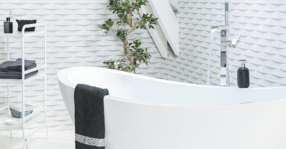 Revestimiento de paredes ambiente blanco grosfillex - Revestimientos para techos ...