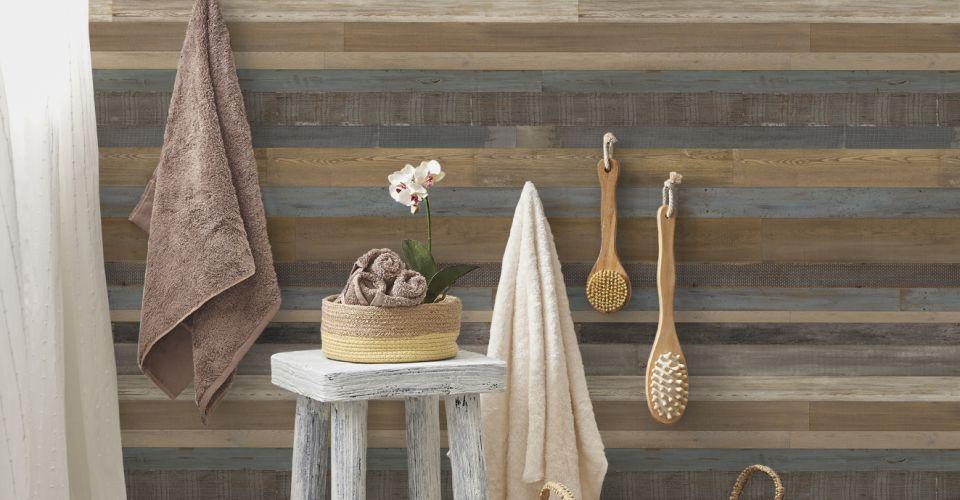 Revestimiento de paredes ambiente madera grosfillex - Revestimientos para techos ...