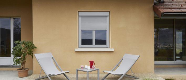 fen tre porte fen tre pvc alta duo avec coffre volet ext rieur grosfillex. Black Bedroom Furniture Sets. Home Design Ideas