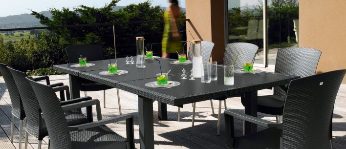 Salon de jardin dînatoire Ineo | Grosfillex