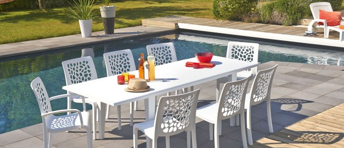 Table de jardin Alpha 150 & 240 | Grosfillex