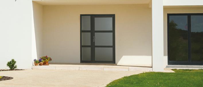 porte d 39 entr e bhautika semi vitr e grosfillex. Black Bedroom Furniture Sets. Home Design Ideas