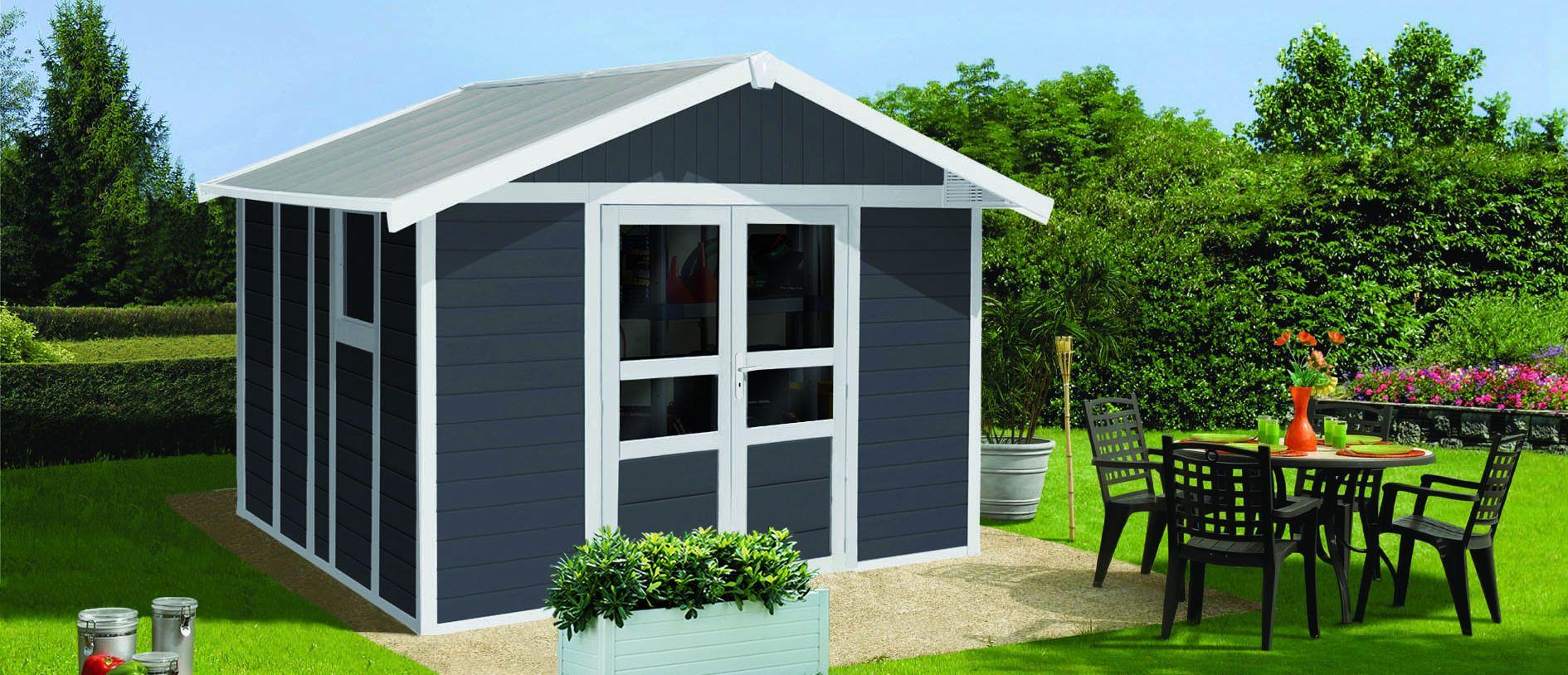 Basic Home Gartenhaus 11 m2 | Grosfillex