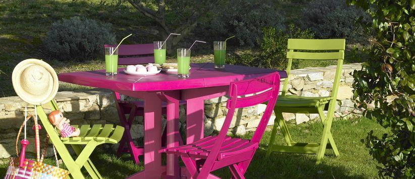 Vega 118 cm garden tables | Grosfillex