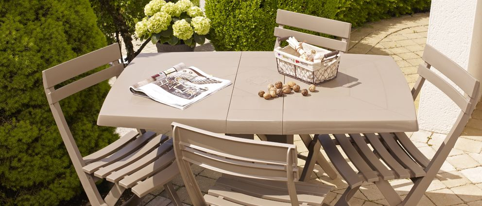 Tables de jardin Vega 118 cm | Grosfillex